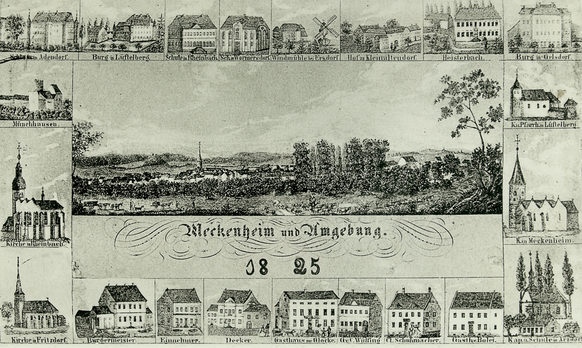 Reconstructed postcard view of Meckenheim