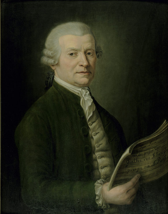 Anton Raaff (1714–1797), one of the most famous tenors of the  18th century, painting by Clemens August Philippart